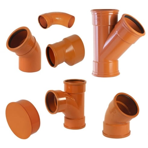Your DIY Shop 160mm Underground Drainage, Pipes, Fittings, Junctions & 160mm Bend PN-EN 1401/UD