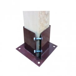 """3"""" x 3"""" Bolt down Fence post support"""