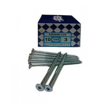 8 X 1.25 Countersunk Square Recess Screws (Box of 200)