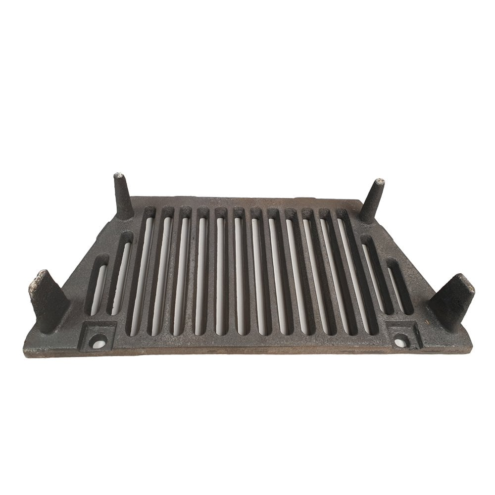 Cast Iron A.L. Bottom Fire Grate, Coal Guard and Ash Pan