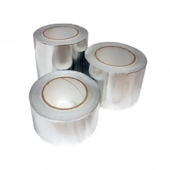 Aluminium Foil Tape 45mt in 50mm, 75mm or 100mm Widths