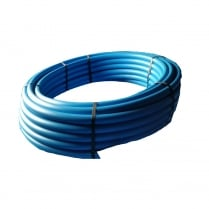 Blue MDPE Plastic Cold Water Pipe