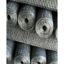 Chicken/Rabbit Galvanised Wire Mesh Fencing (25mm Holes)