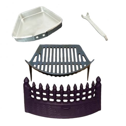 Your DIY Shop Complete Castle Fire Set - Fret, Grate, Ash Pan & Tool