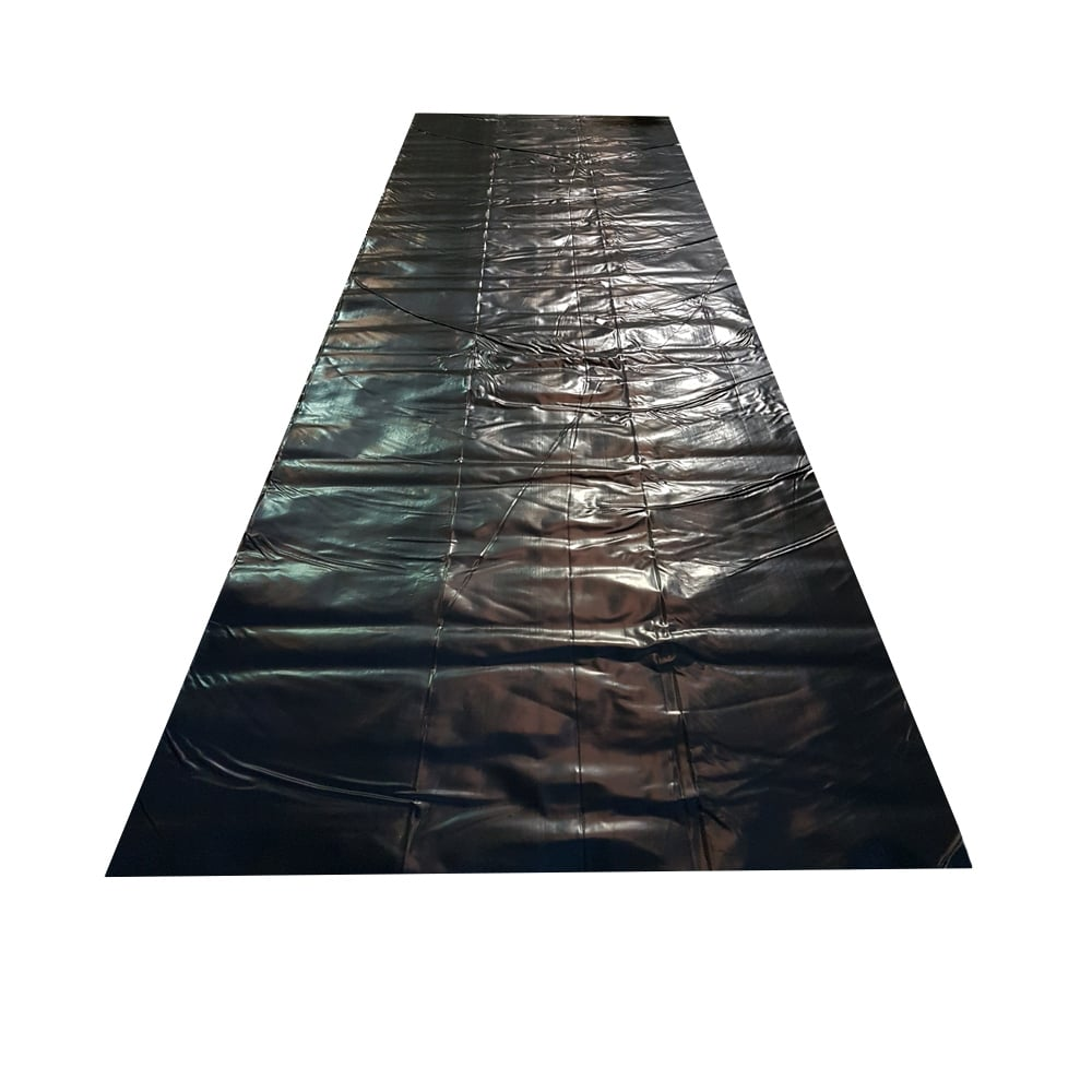 300 mu 24 H HEAVY DUTY 1200 g BLACK DAMP PROOF MEMBRANE SHEETS 8 M x 4 M