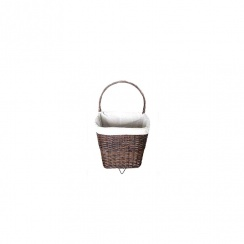 DEVILLE NAT WICKER FIRELOG BASKET ON WHEELS