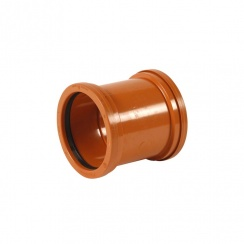 "Double Socket Pipe Coupler 4""/110mm"