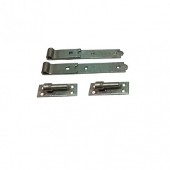 "Galvanised Hook and Band Hinge - 10"" - Pair"