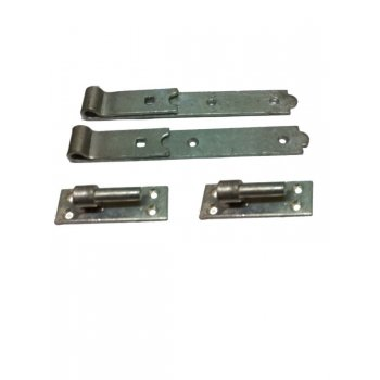 "Your Diy Shop Galvanised Hook and Band Hinge - 12"" - Pair"