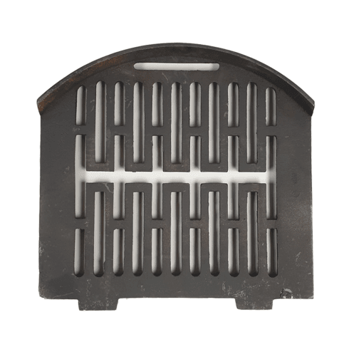 """Your DIY Shop Gerkros Curved Cast Iron Bottom Fire Grate for 16"""" Fireplace Opening"""