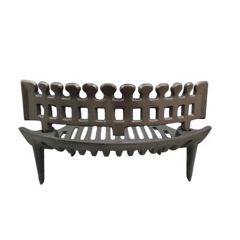 Your DIY Shop Heavy Duty Cast Iron Round Bow Fire Grate with Coal Guard for 16""
