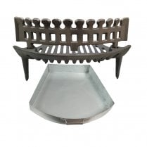 "Heavy Duty Fire Grate, Coal Guard and Ashpan for 16"" Fireplaces"