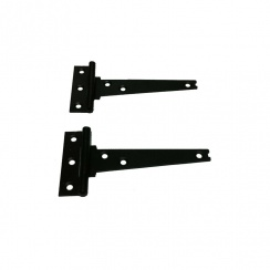 Japanned Black Tee Hinges - Pair - 12""
