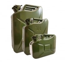 Jerry Can Green Metal Various Sizes