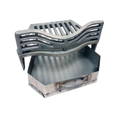 "Your Diy Shop Joyce Fire Grate, Coal Guard and Ashpan for 16"" Fireplace Opening"