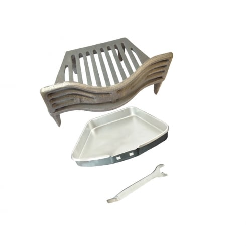 "Your Diy Shop Joyce Fire Grate, Coal Guard, GP Ashpan and Lifting Tool for 16"" Fireplace Opening"