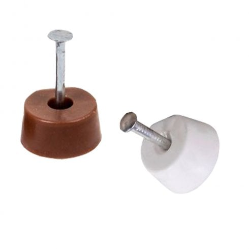 Nail in Shelf Stud - Brown / White - Pack of 10