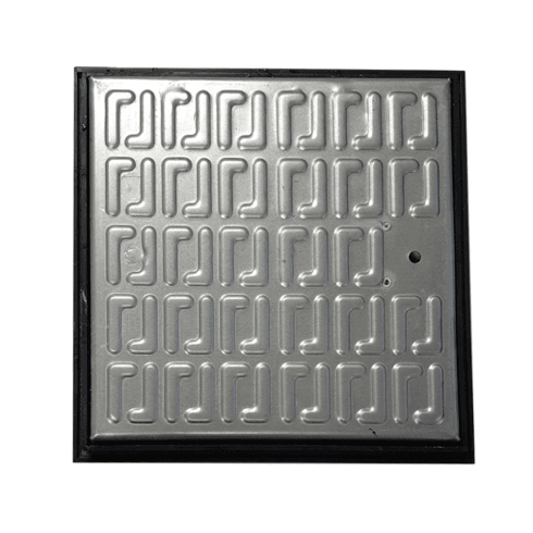 Your DIY Shop Pedestrian Manhole Cover - Galvanised Steel and PVC Frame 286 x 286mm Clear Opening