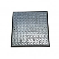 Pedestrian Manhole Cover - Galvanised Steel and PVC Frame A15 450 x 450mm