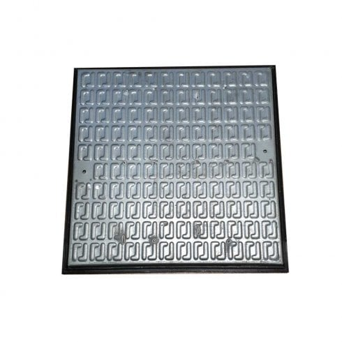 Your DIY Shop Pedestrian Manhole Cover - Galvanised Steel and PVC Frame A15 610 x 610mm