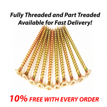 Professional Yellow Wood Screw POZI Countersunk