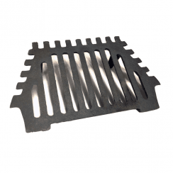 "Queen Star Cast Iron Fire Grate 16"" - 2 Legs"
