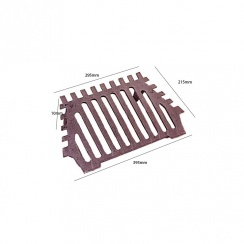 "Queen Star Fire Grate 18"" - 2 Legs"