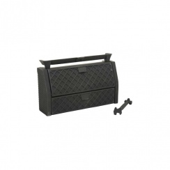 "Queenstar All Night Burner Solid Fuel Open Fire Kit Coal or Wood 16"""