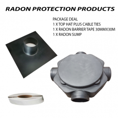 Radon Protection Pack - Sump, Top Hat and Radon Tape