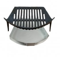 """Round Bow Grate and Round Bow Ashpan for 16"""" Fireplace Openings"""