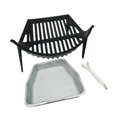 Round Bow Grate, Ashpan and Lifting Tool Set