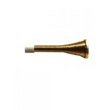 Your Diy Shop Spring Projecting Flexible Door Stop - Brass / Chrome