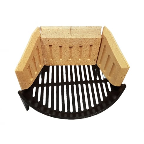 Your Diy Shop Stool Fire Grate (Round Bow) with Fire Bricks Set (2 Sizes)