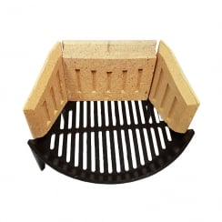 Stool Fire Grate (Round Bow) with Fire Bricks Set (2 Sizes)