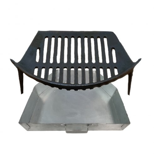 """Your DIY Shop Stool Grate and Ashpan for 16"""" Fireplace Openings"""