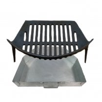 """Stool Grate and Ashpan for 16"""" Fireplace Openings"""