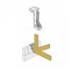 Timber to Masonry Joist Hanger - 200mm x 50mm - Pack of 2