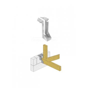 Timber To Masonry Joist Hanger 225mm X 75mm Pack Of 2