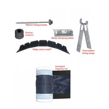 Universal Hip and Ridge Kit - Dry Ventilated Ridge System