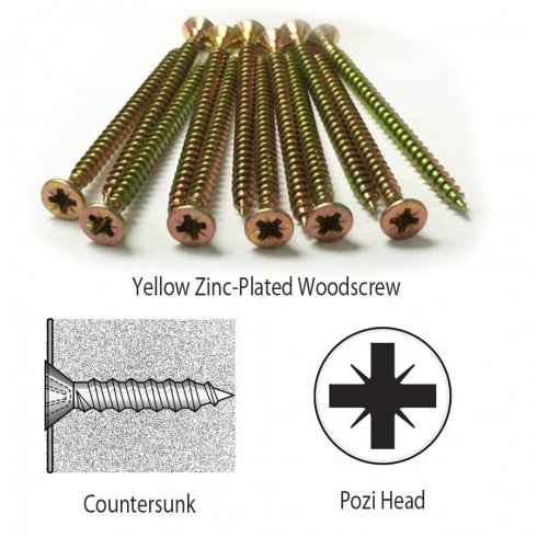 Your Diy Shop Woodscrews - Professional Countersunk Yellow Pozi Chipboard