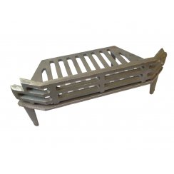 "WW Cast Iron Fire Grate 16"" - 4 Legs C/W Guard"