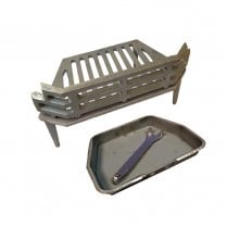 "WW/Victorian Fire Grate and Ash Pan for 16"" Fireplace Opening"