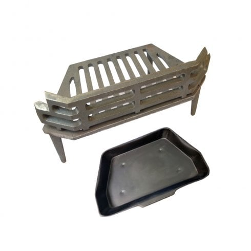 "Your DIY Shop WW/Victorian Fire Grate and Ash Pan for 16"" Fireplace Opening"