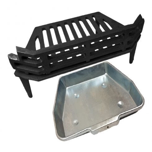 """Your DIY Shop WW/Victorian Fire Grate and Ash Pan for 16"""" Fireplace Opening"""