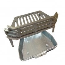 """WW/Victorian Fire Grate and Ash Pan for 16"""" Fireplace Opening"""