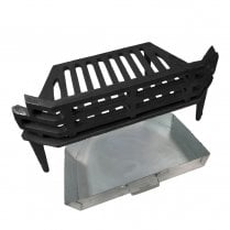 """WW/Victorian Fire Grate and QS Ash Pan for 16"""" Fireplace Opening"""