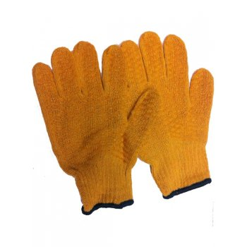 Your Diy Shop Yellow PVC Lattice Woven Gloves - One Size Fits All