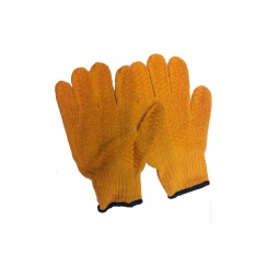 Yellow PVC Lattice Woven Gloves - One Size Fits All