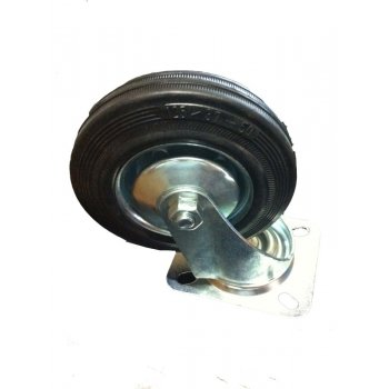 Your DIY Shop Zinc Plated Castor Swivel - Plastic Wheel - 100mm