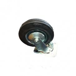 Zinc Plated Castor Swivel - Plastic Wheel - 100mm